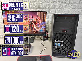 Игровой компьютер Core i5 XEON 8Гб SSD 120Gb HDD 1Tb GTX1060 3gb 500Вт DOTA2 120FPS на ультра! WiFi в подарок!