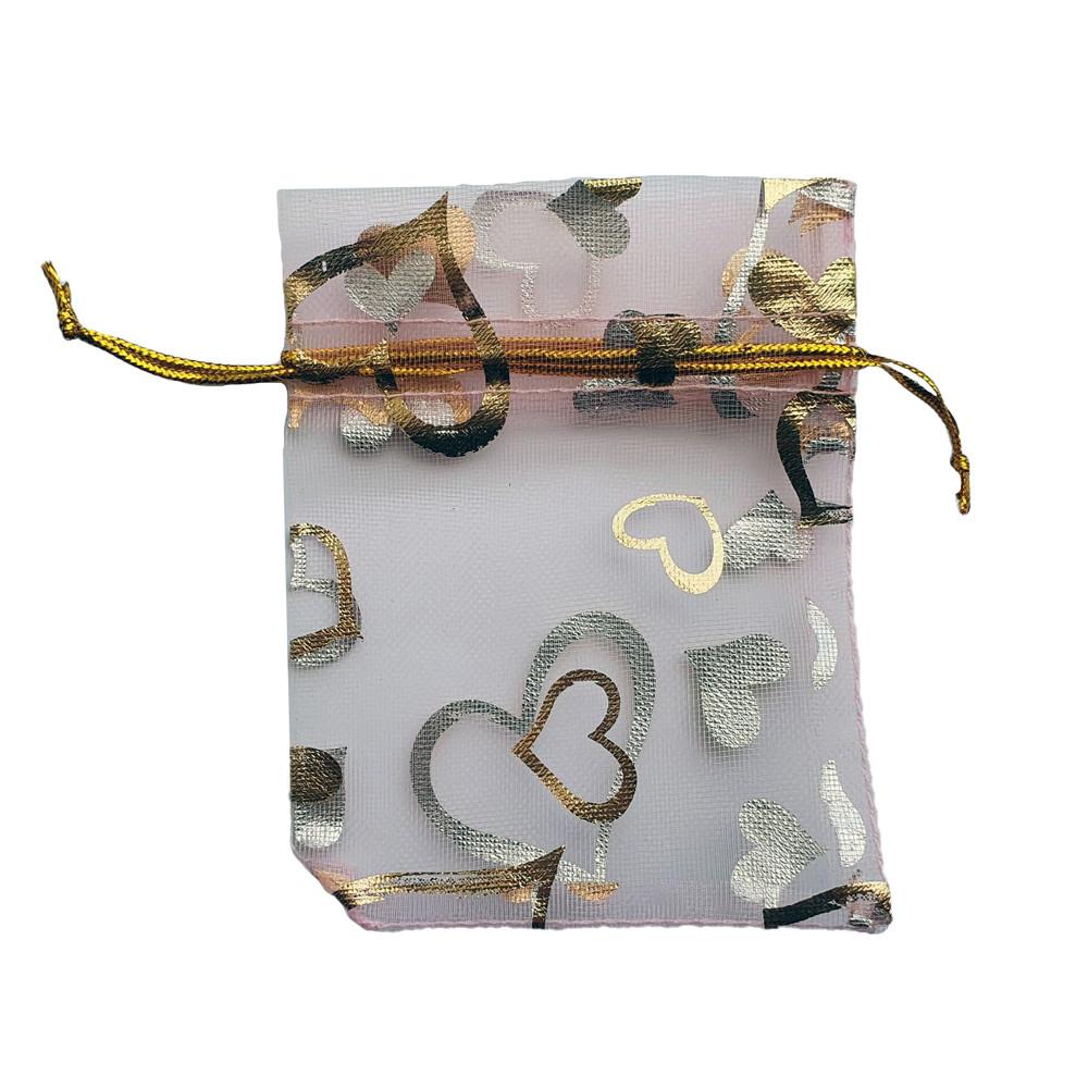 Подарочный мешочек из органзы 7х9 см розовый