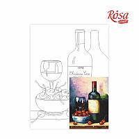 Холст на картоне с контуром Rosa Start 30x40 см акрил хлопок Натюрморт №21 (4820149894577)