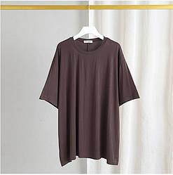 Футболка женская Свобода, коричневый Berni Fashion (One Size)