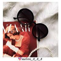 Женские солнцезащитные очки круглыеDolce & Gabbana 6444 C1 черные с градиентом