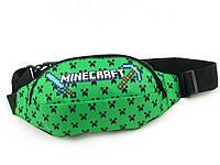 """Сумка Бананка на пояс/через плечо детская """"Minecraft"""" зеленая"""