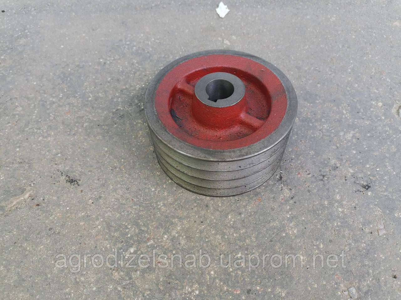 Шкив малый 8250-001-250/8245-036-010-250 (роторная косилка WIRAX Z-169) 4 ручья (d-132)