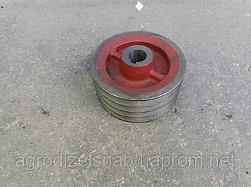 Шкив малый 5036010250 (роторная косилка WIRAX Z-169) 4 ручья (d-132)