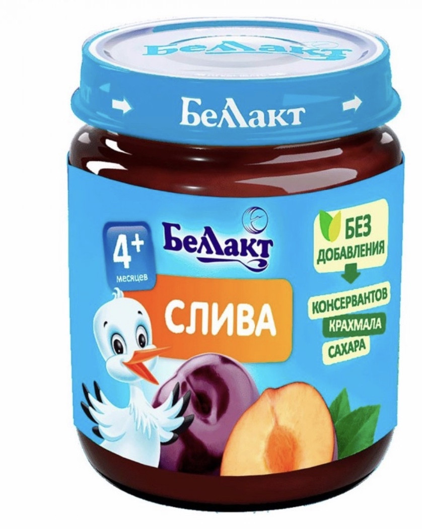 Пюре из слив Беллакт (Беларусь) с 4 месяцев 100 гр
