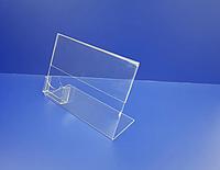 Менюхолдер А4 формата горизонтальный с визитницей односторонний