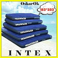 Надувной матрас (матрац) INTEX двухместный, 183*203*25, надувная кровать, матрас в палатку, пляжный, для сна