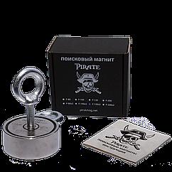 Поисковый магнит Пират F-120х2 двухсторонний + ТРОС 🎁