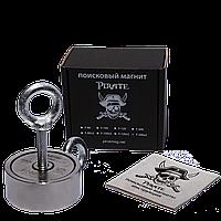 Поисковый магнит Пират F-200х2 двухсторонний + ТРОС 🎁
