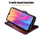 Чехол - книжка для Xiaomi Redmi 8 с силиконовым бампером и отделением для карточек №2 Цвет Коричневый, фото 6