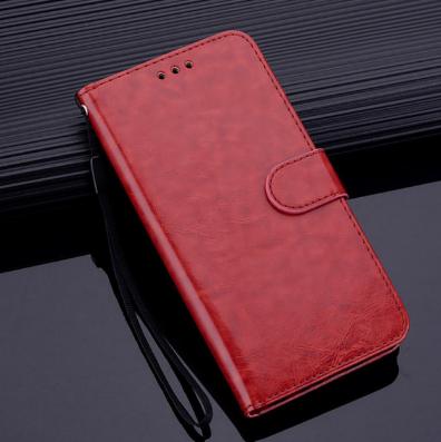 Чехол - книжка для Xiaomi Redmi 8 с силиконовым бампером и отделением для карточек №2 Цвет Коричневый