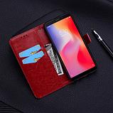 Чехол - книжка для Xiaomi Redmi 8 с силиконовым бампером и отделением для карточек №2 Цвет Коричневый, фото 4