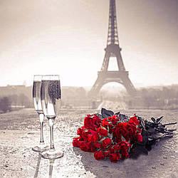 Алмазная Мозаика Романтика Парижа Набор Вышивка Камнями DIY-6116 30x30 см