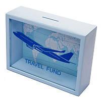 Копилка для бумажных денег BST Travel Fund 710027 20х15 см Голубой, КОД: 1640340