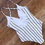 Слитный полосатый купальник, фото 5