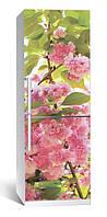 Самоклеющаяся виниловая пленка наклейка на холодильник IdeaX Цветение 01 65х200 см
