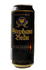 Пиво Stephans Bräu Schwarzbier темное 0,500 мл