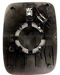 Правый вкладыш зеркала Опель Виваро 14- с обогревом асферический