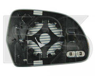 Левый вкладыш зеркала Ауди A4 (B8) с обогревом асферический хромир.