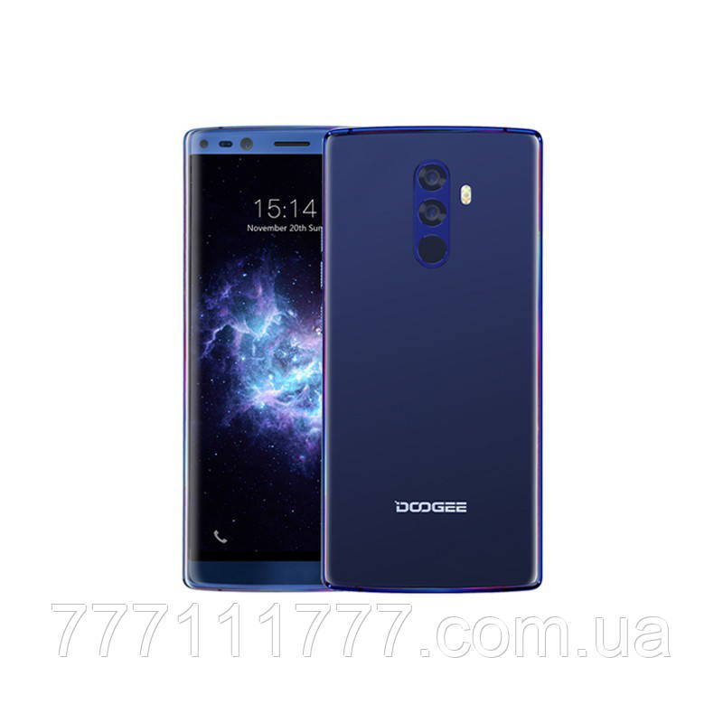 Смартфон синий с большим дисплеем и мощной батареей на 2 сим карты Doogee MIX 6/64Gb blue
