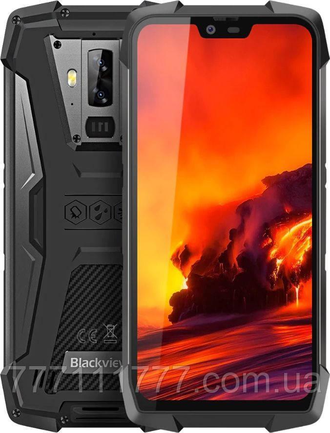 Смартфон противоударный с мощной батареей и двойной камерой на 2 sim Blackview BV9700 Pro black 6/128ГБ