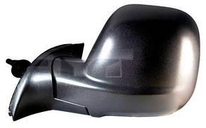 Левое зеркало Пежо Партнер 12-16 электрический привод; с обогревом; текстура; выпуклое