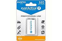 Аккумулятор EverActive EVHRL22-320, Крона, 320 mAh, Ni-MH, блистер 1 шт, фото 1