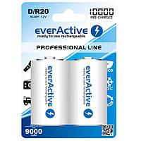 Аккумулятор EverActive EVHRL20-10000, D/R20, 10000 mAh, Ni-MH, блистер 2 шт