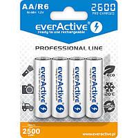 Аккумулятор EverActive EVHRL6-2600, AA, 2600 mAh, Ni-MH, блистер 4 шт