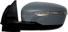 Левое зеркало Ниссан ИКС-Траил T32 электрический привод; с обогревом; под покраску; выпуклое; с указ. поворота; без подсветки