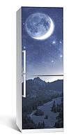 Самоклеющаяся виниловая пленка наклейка на холодильник IdeaX Космос 65х200 см