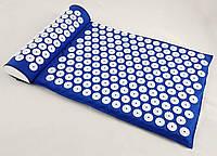 Аппликатор Кузнецова (Ляпко) массажный акупунктурный коврик с подушкой массажер для спины OSPORT (n-0005)