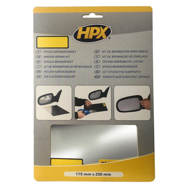 Комплект для ремонта автозеркал HPX Mirror Repair Kit -175мм х 250мм