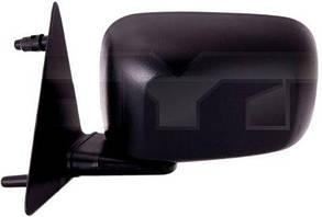 Левое зеркало Вольксваген Гольф II ручной привод; без обогрева; плоское; 88-