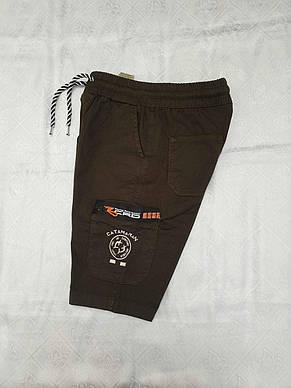 Модные коттоновые шорты на мальчиков 134,140,146,152 роста KATAMARAN, фото 3