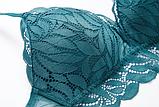 Комплект женского нижнего белья Lux4ika размер 75B классический с нежным кружевами Зеленый (vol-626), фото 8