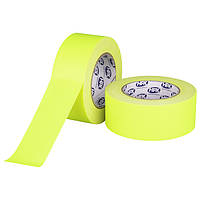 Желтый флуорисцентный матовый тейп HPX FLUO GAFFER PRO - 50мм х 25м