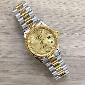 Часы Rolex Date Just New Silver-Gold-Gold SKL39-225478