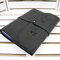 Кожаный Ежедневник M (А5). Натуральная кожа, Лазерная гравировка, Сменный блок бумаги., фото 1