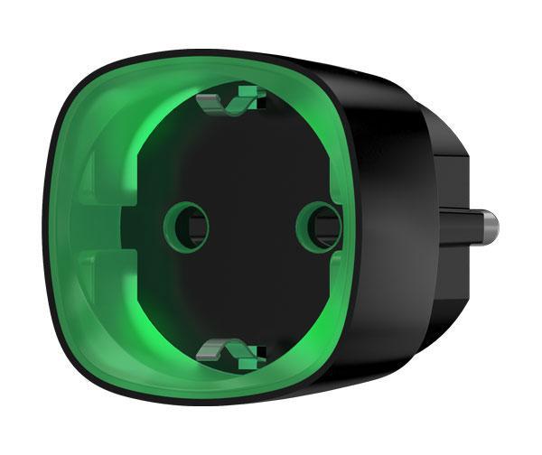 Радиоуправляемая умная розетка со счетчиком энергопотребления и защитой от перегрузки Ajax Socket, Black
