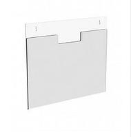Акриловый карман плоский А5 формата настенный горизонтальный