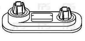 Крепеж бампера передний левый=правый 1983-89 Вольксваген Гольф II