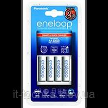 Зарядное устройство eneloop panasonic smart-quick charge + 4хaa 1900 mah (k-kj55mcc40e)