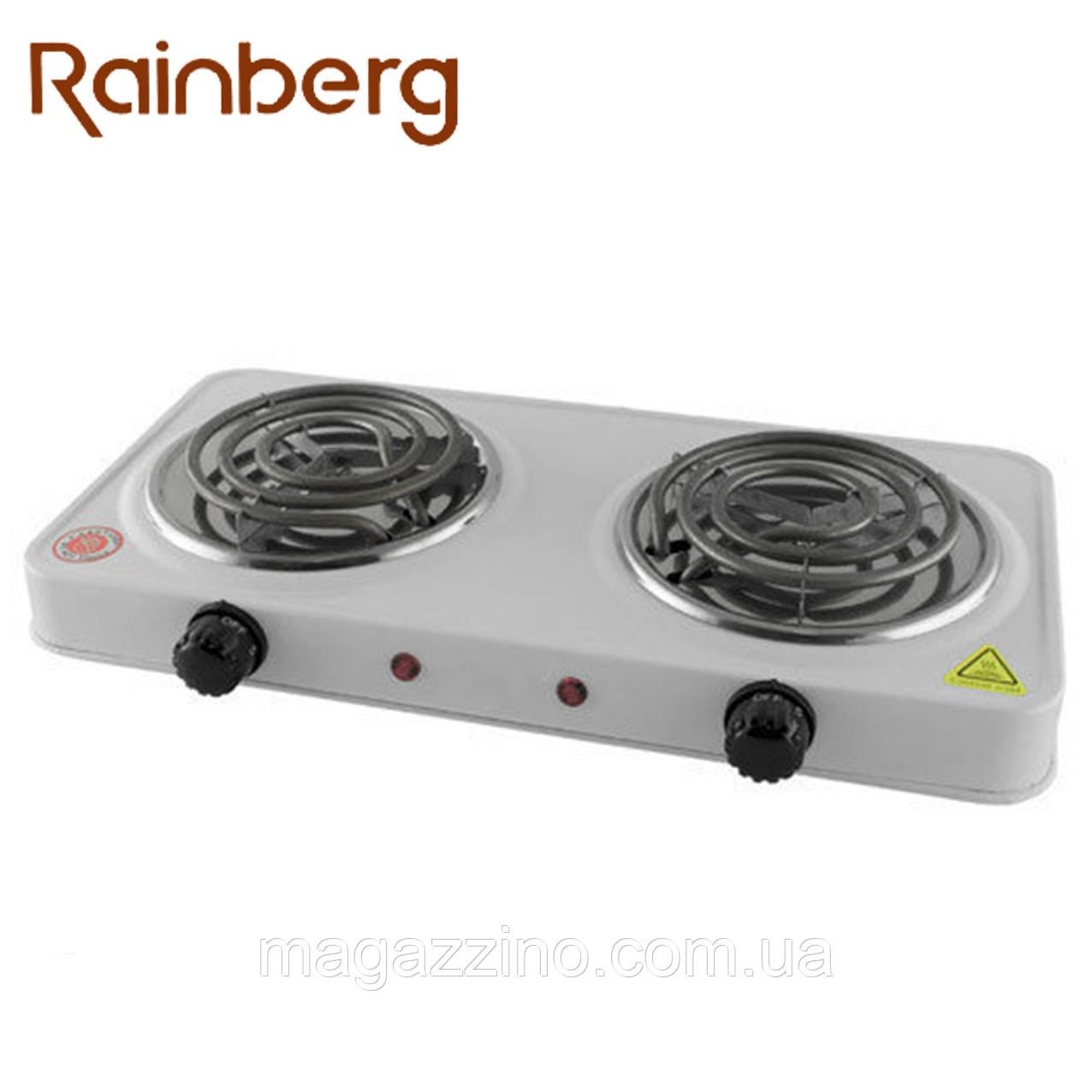 Электроплита на 2 конфорки Rainberg RB-888, 2400 Вт.