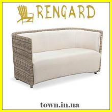 Двойное кресло-софа Oxford, дизайнерское в стиле лофт.Кресло для кафе,для ресторанов,для терассы,для кухни
