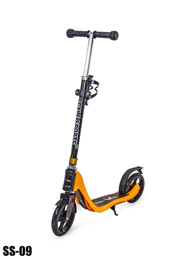 Детский самокат Scale Sports SS-09. Черно-оранжевый