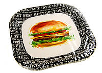 Набор одноразовых тарелок Duni 10 штук Черно-белый M18-470909, КОД: 1705034