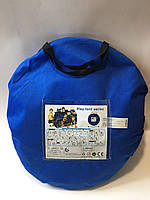 Намет M 3527 (синя) поліц. машина 135-64-97см на кілочках 1 вхід на заваязках в сумці