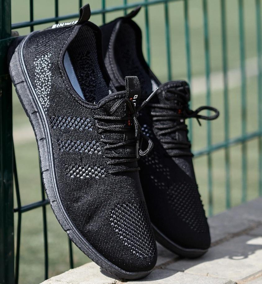 Мужские легкие летние кроссовки из черного текстиля GIPANIS 42 р. 27,5 см (1204828666)