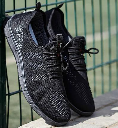 Мужские легкие летние кроссовки из черного текстиля GIPANIS 42 р. 27,5 см (1204828666), фото 2